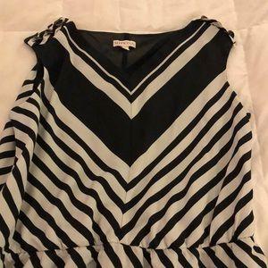 Merona Dress. Chevron. Size 16